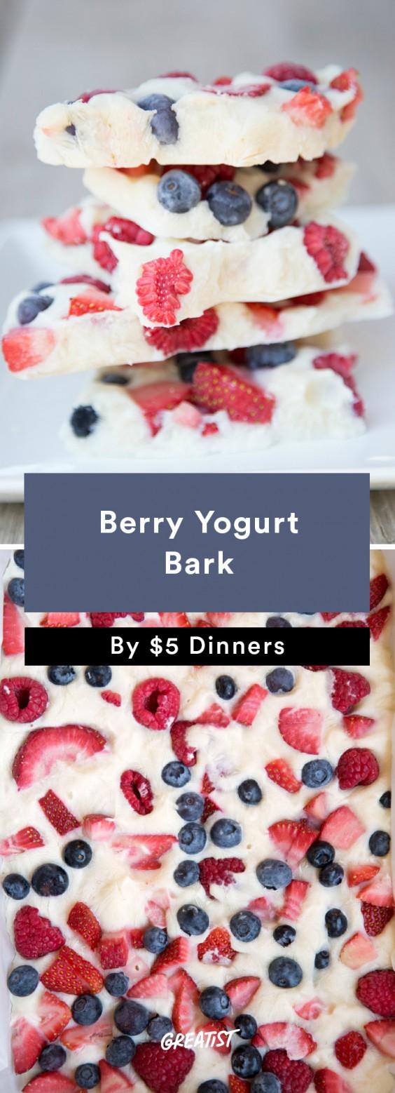 Berry Yogurt Bark