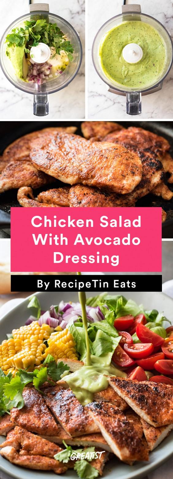 Chicken Salad With Avocado Dressing