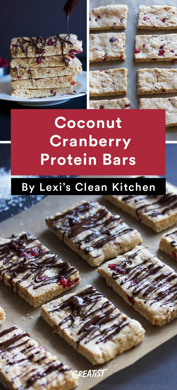 Coconut Cranberry Protein Bars