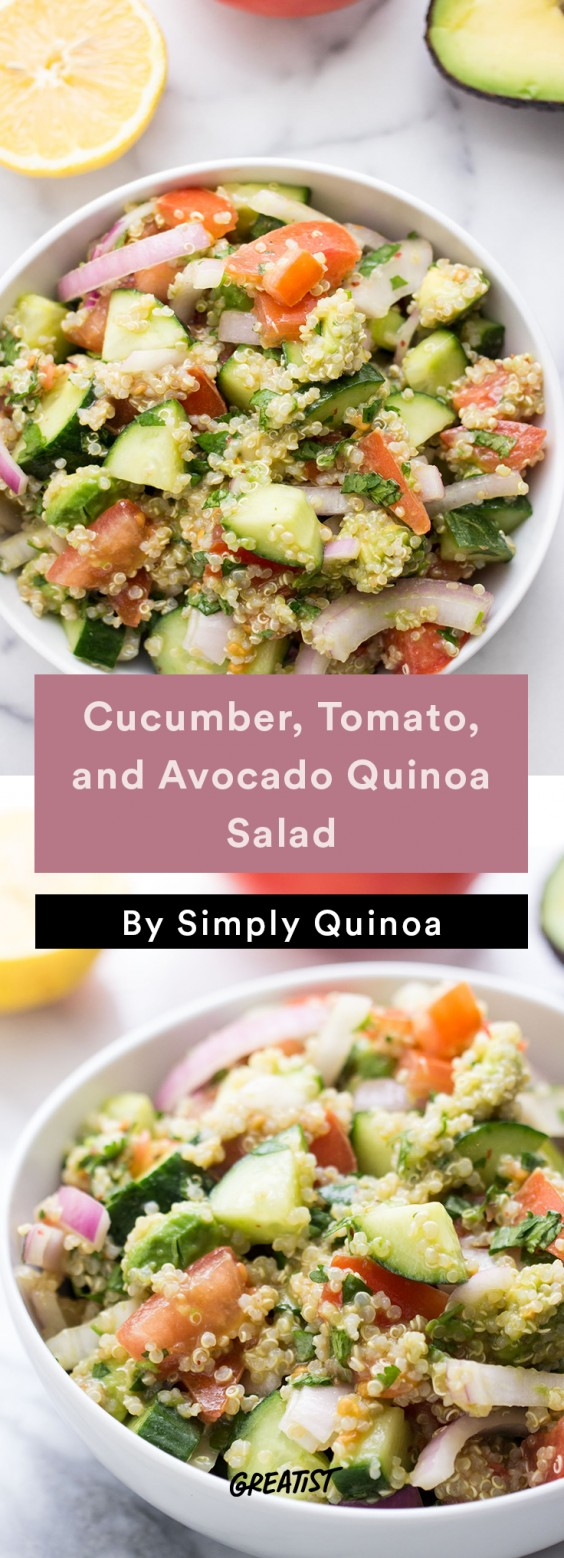 Cucumber, Tomato, and Avocado Quinoa Salad