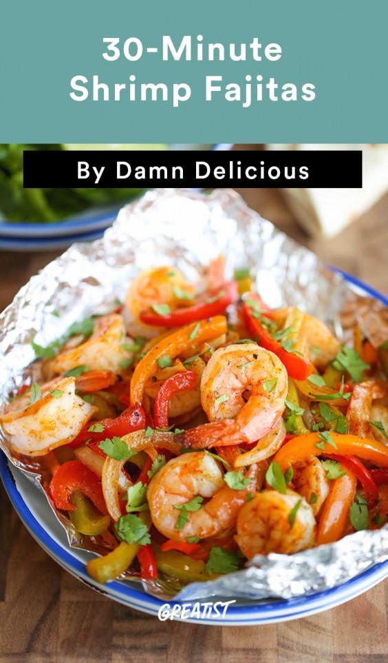 30-Minute Shrimp Fajitas