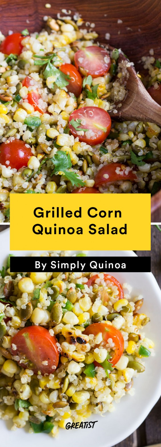 Grilled Corn Quinoa Salad