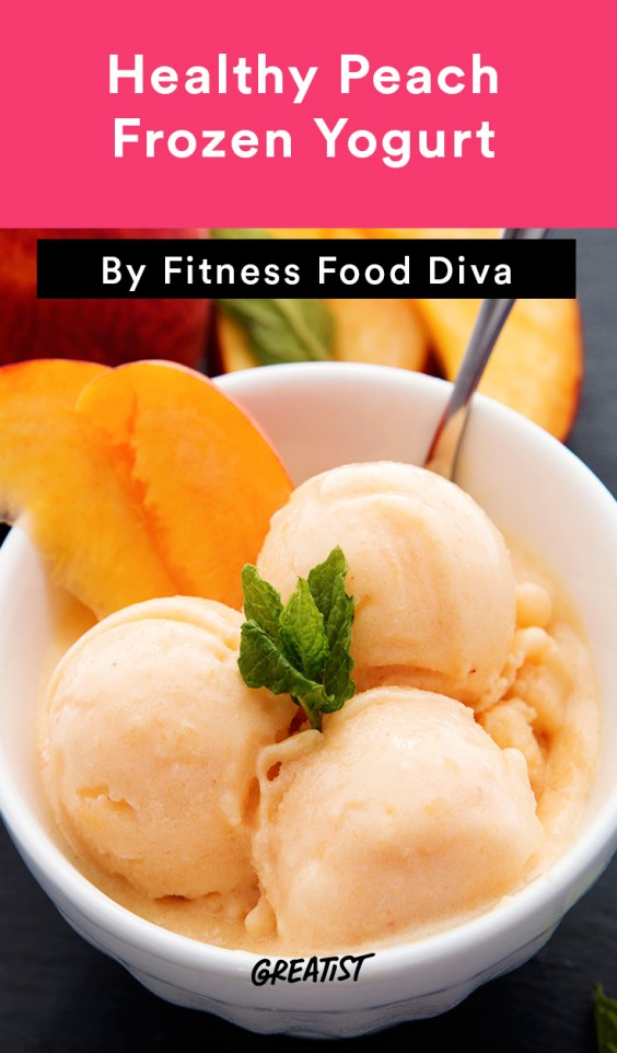 Healthy Peach Frozen Yogurt