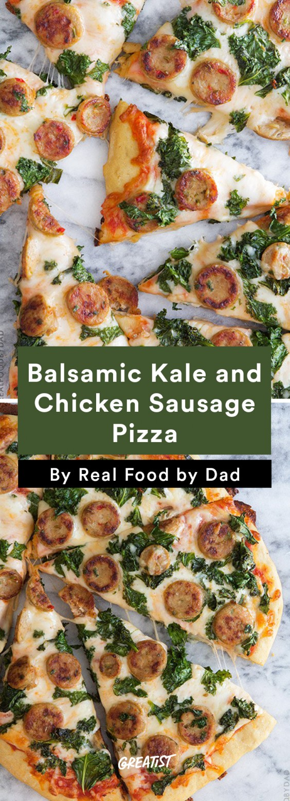 Balsamic Kale & Chicken Sausage Pizza