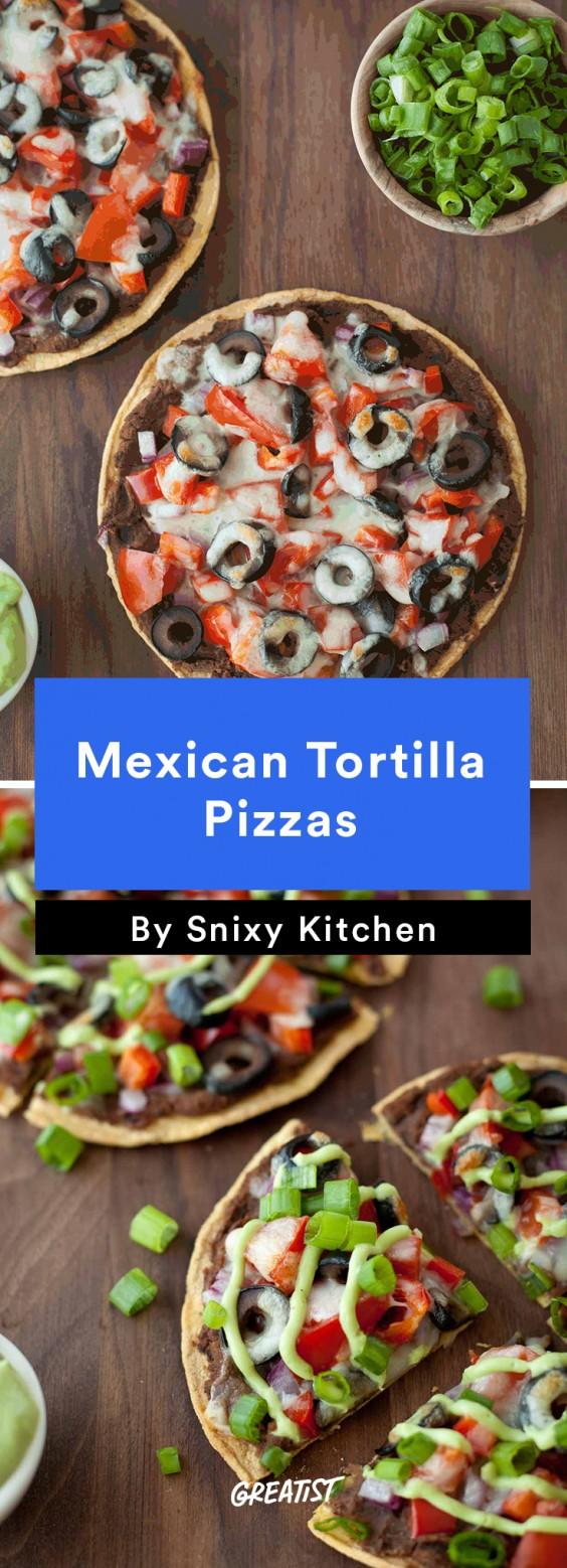 Mexican Tortilla Pizza