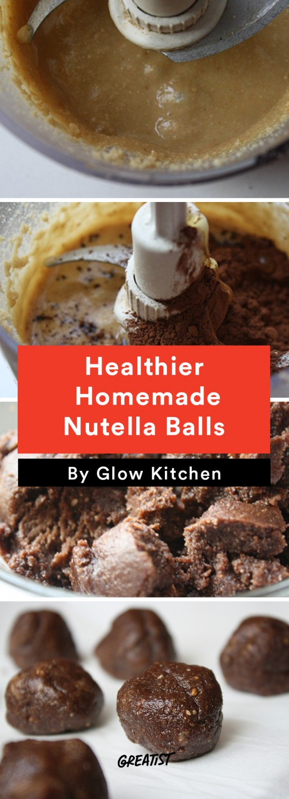 Healthier Homemade Nutella Balls