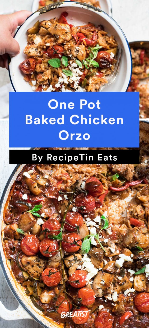 Baked Greek Chicken Orzo
