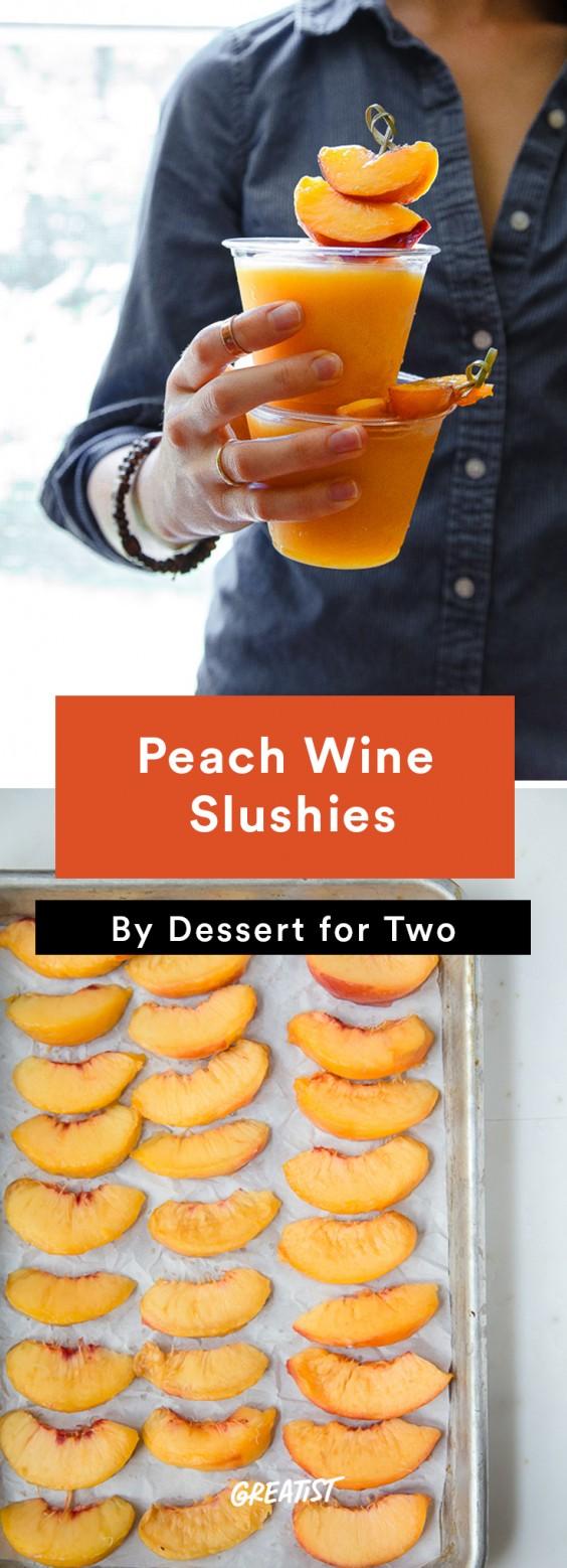 Peach Wine Slushies