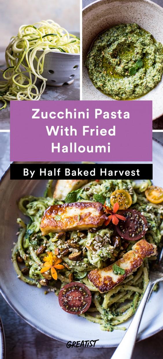 Green Goddess Zucchini Pasta