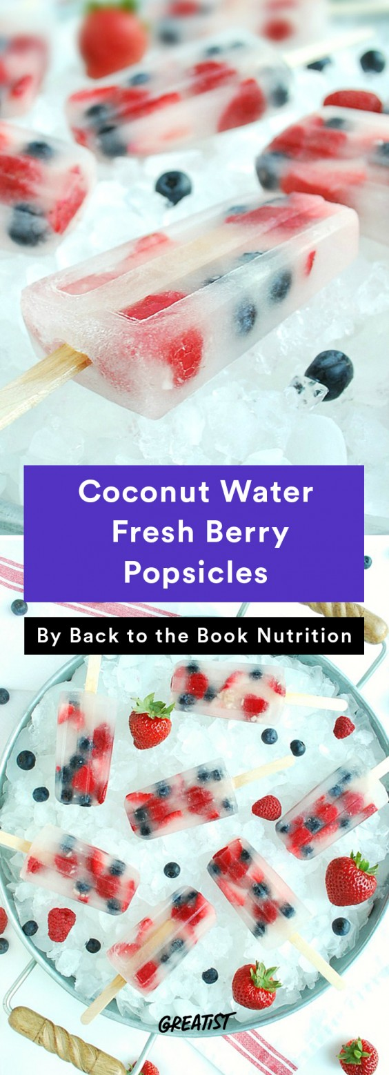 Coconut Water Fresh Berry Popsicles