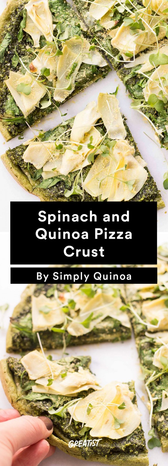 Spinach and Quinoa Pizza Crust