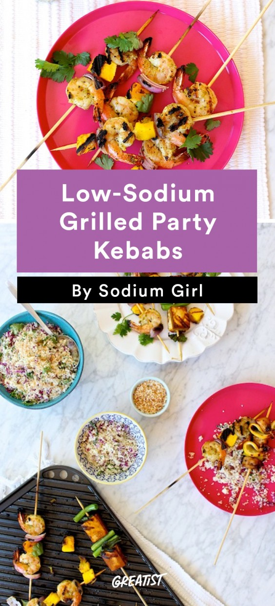 Low-Sodium Grilled Party Kebabs