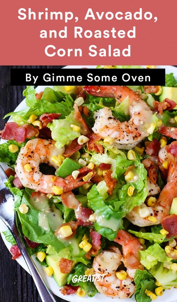 Shrimp, Avocado, and Roasted Corn Salad