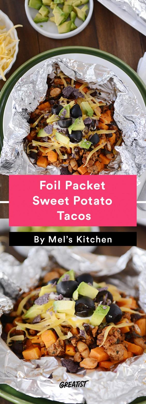 Foil Packet Sweet Potato Tacos