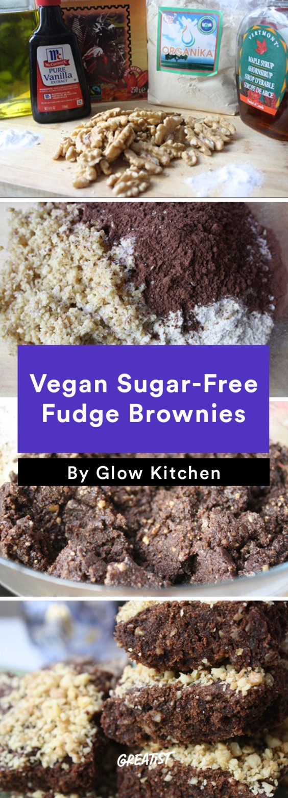 Vegan Sugar-Free Fudge Brownies