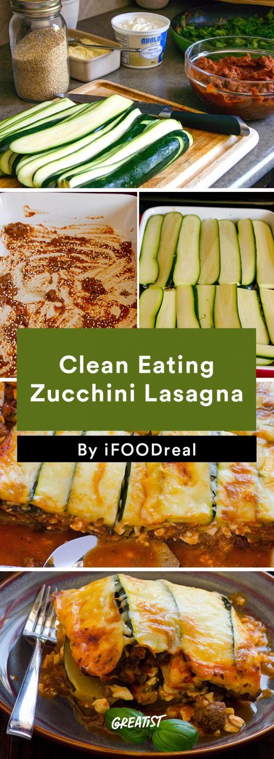 Clean Eating Zucchini Lasagna
