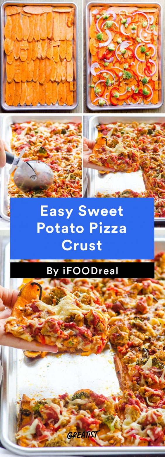Easy Sweet Potato Pizza Crust