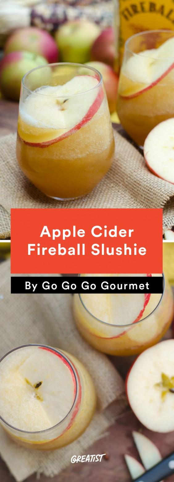 Apple Cider Fireball Slushie