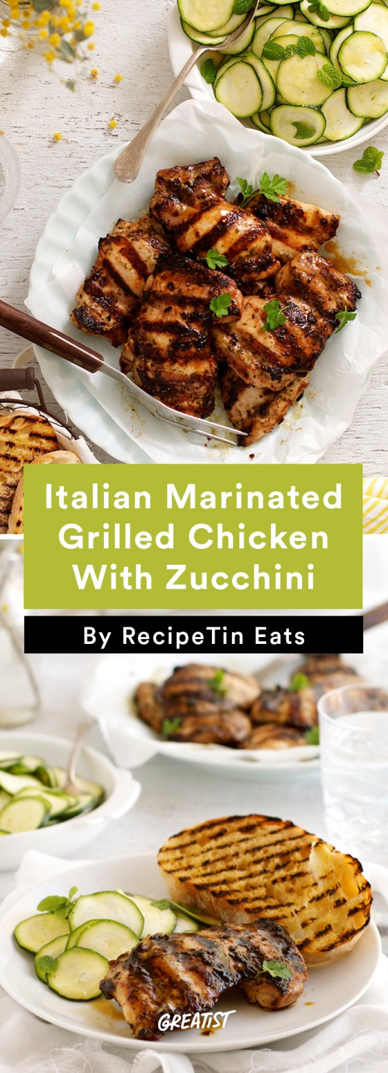 Italian Marinated Grilled Chicken With Zucchini