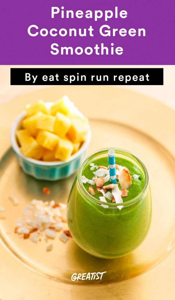 Pineapple Coconut Green Smoothie
