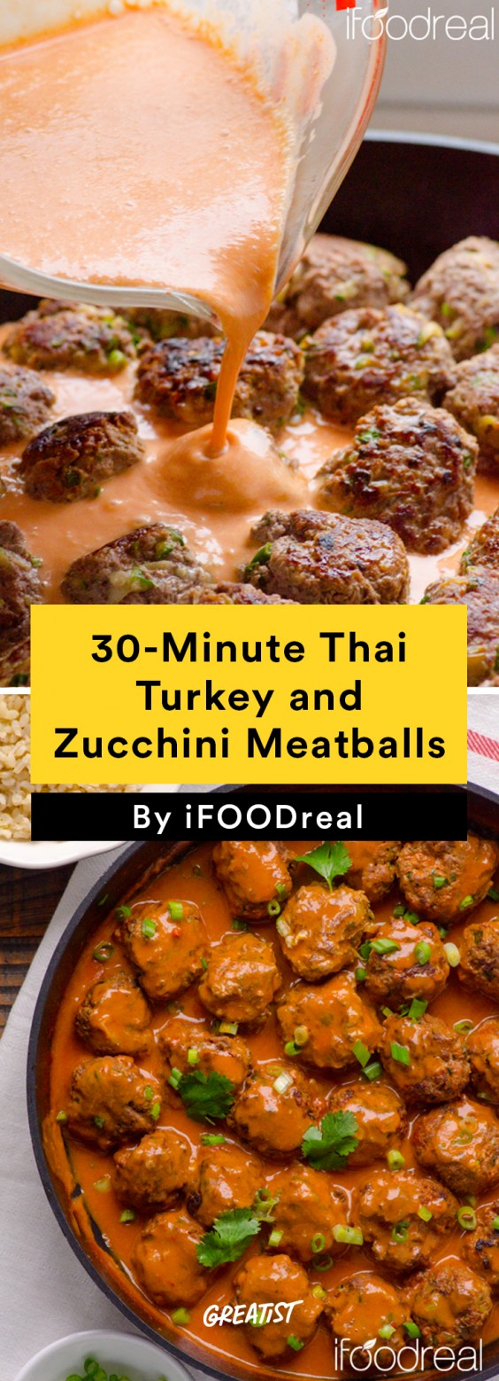 30-Minute Thai Turkey and Zucchini Meatballs