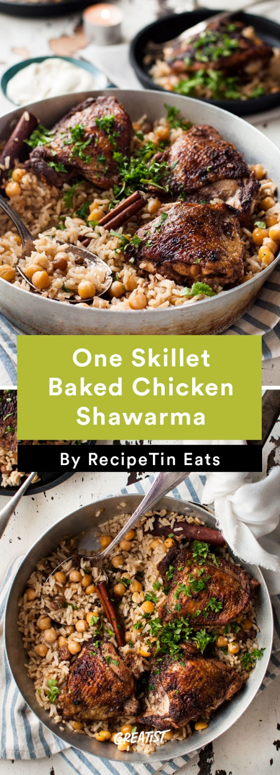 Baked Chicken Shawarma and Rice