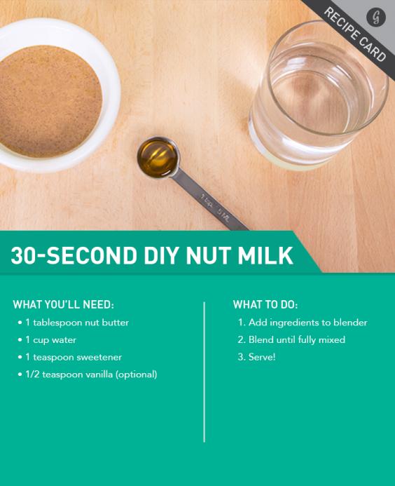 Recipe: 30-Second Nut Milk