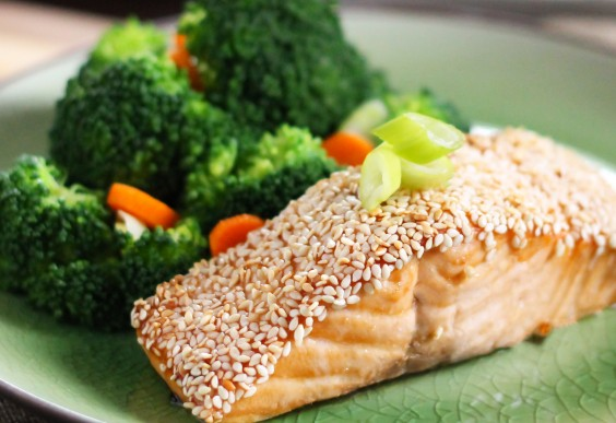 Entree Ideas For Dinner Party Part - 39: Healthy Dinner Recipe: Easy Sesame Salmon