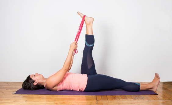 The Perfect Yoga Workout for When You're Too Sore to Work Out: Reclined Hamstring Stretch