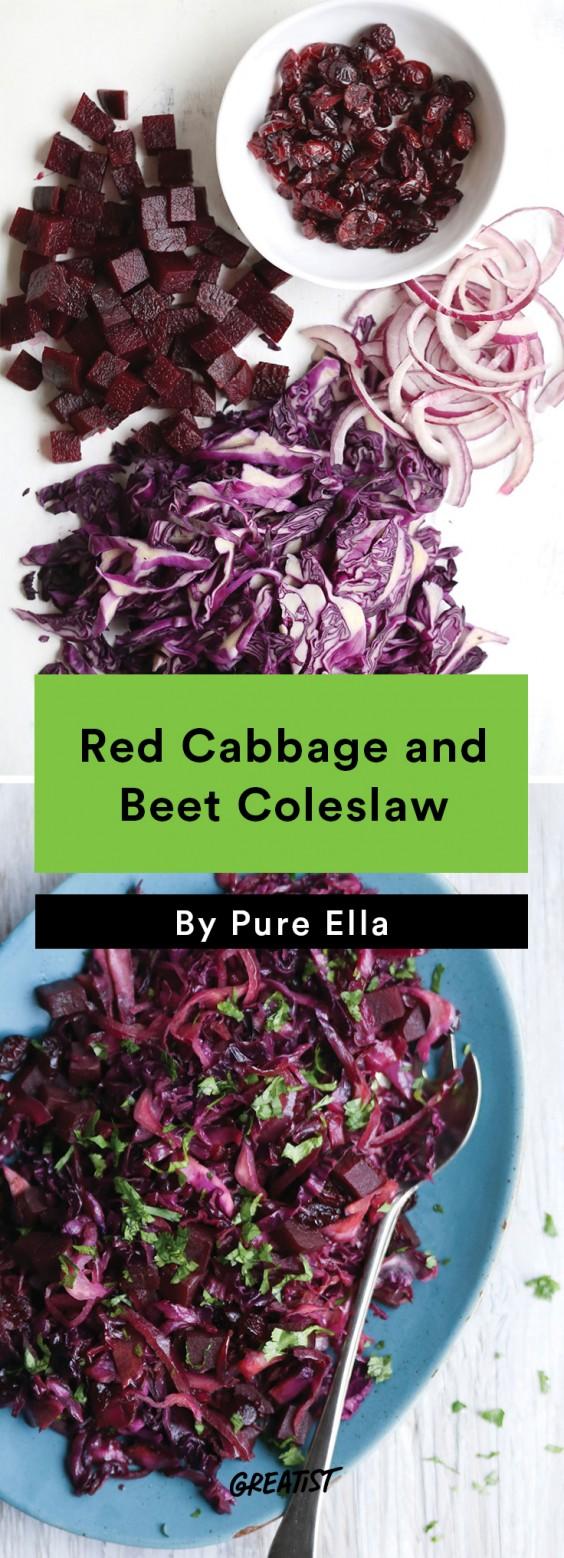 no mayo coleslaw: Cabbage and Beet Coleslaw