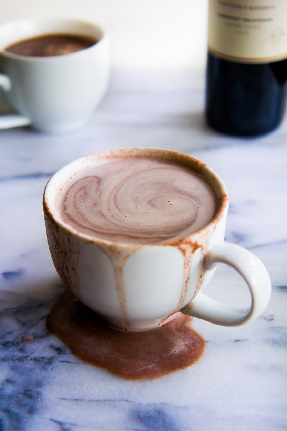 mulled wine: Red Wine Hot Chocolate