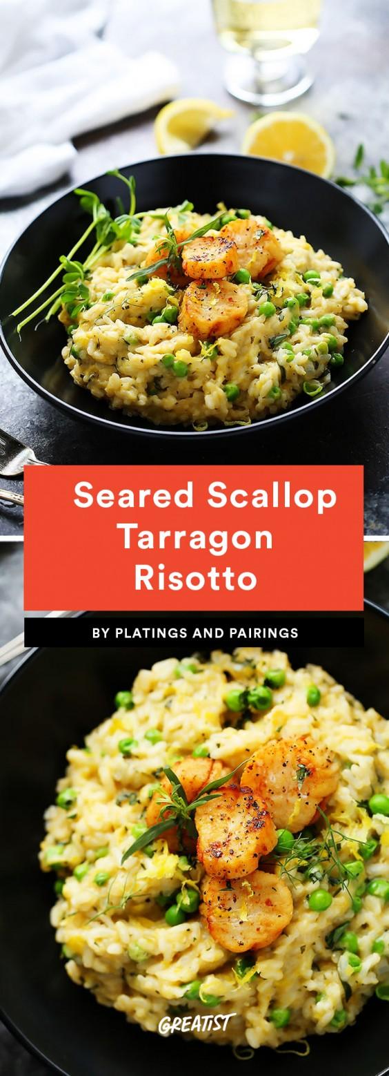 Seared Scallop Tarragon Risotto