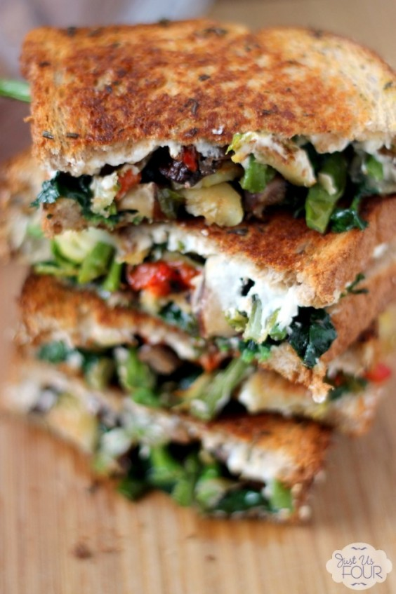 5. Roasted Vegetable Grilled Cheese