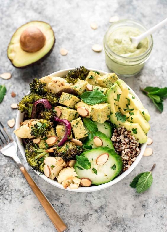 Tofu Recipes: Roasted Veggie Buddha Bowl
