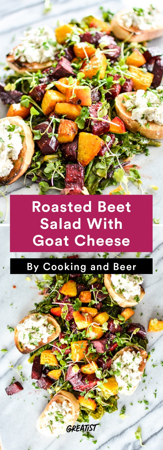 warm salads: Roasted Beet Salad With Goat Cheese