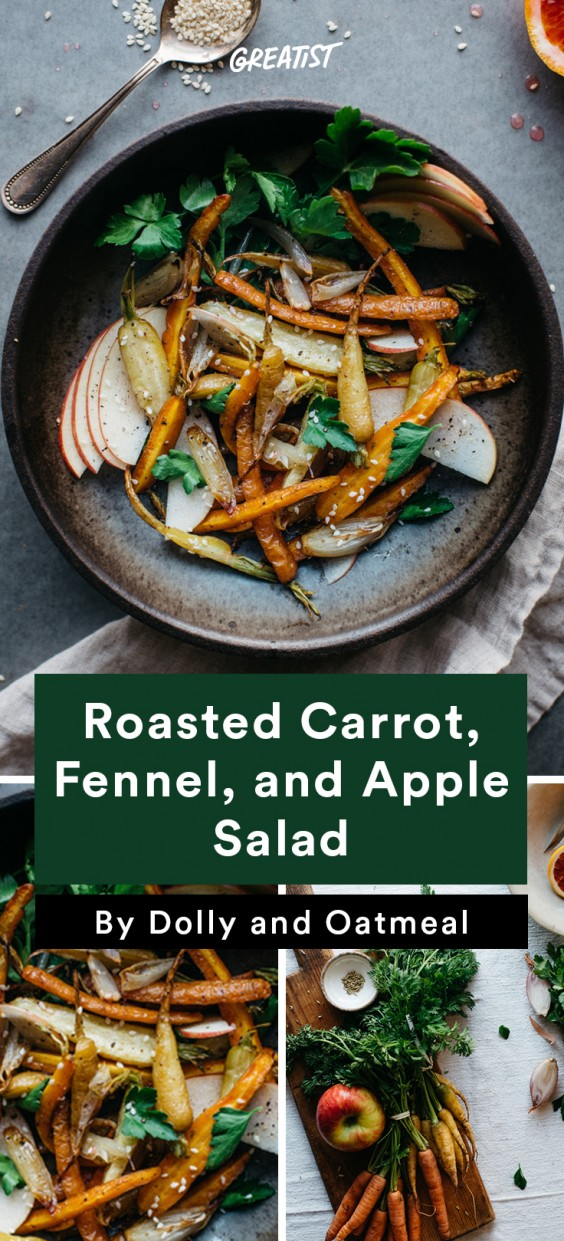 warm salads: Roasted Carrot, Fennel, and Apple Salad