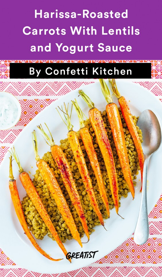 confetti kitchen: Carrots with Lentils