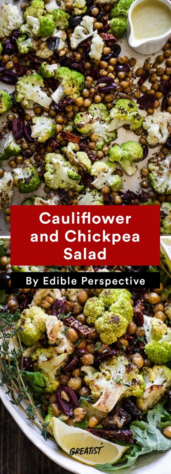 warm salads: Cauliflower and Chickpea Salad