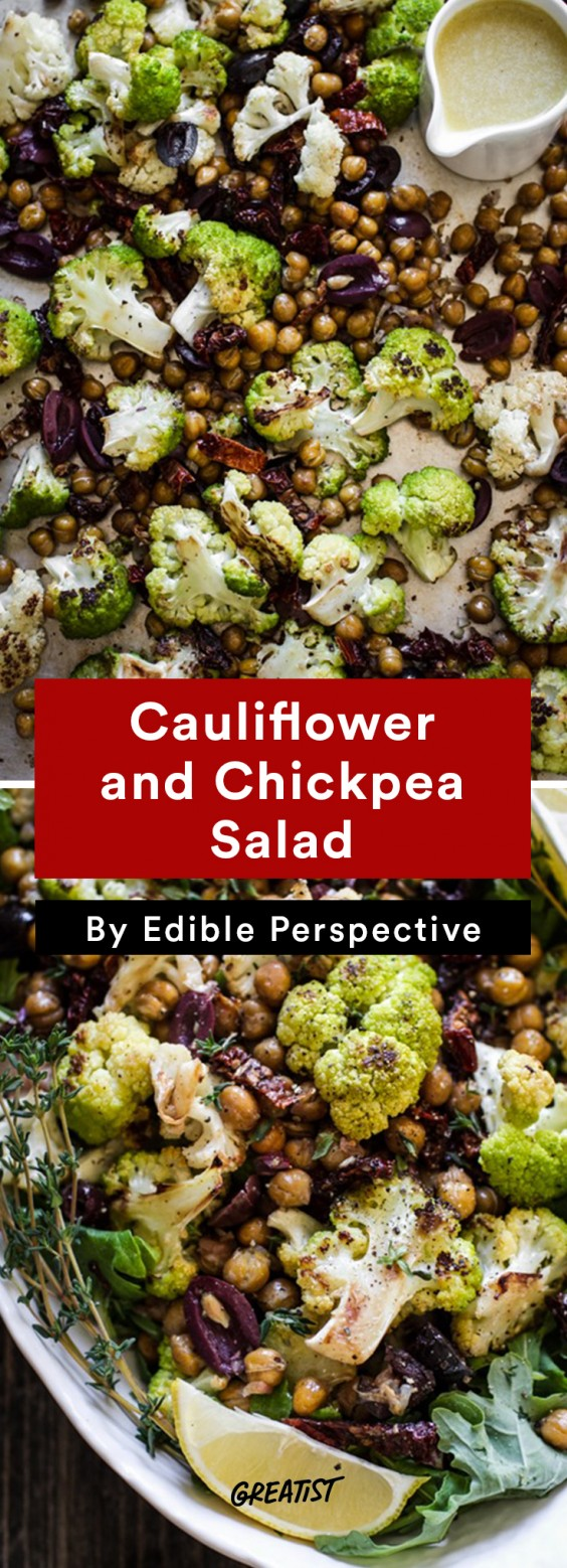 warm salads: Cauliflower and Chickpea Salad