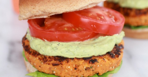 Sweet potatoes, chipotle, and avocado? It's burger heaven.