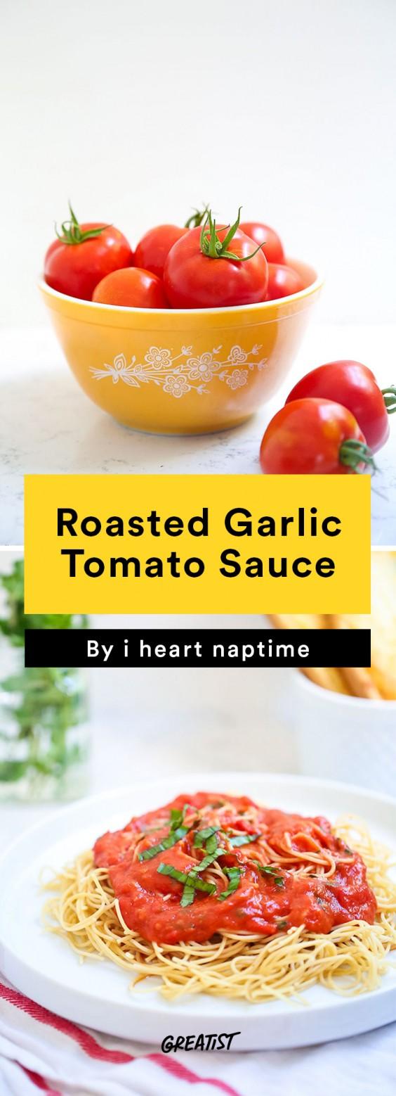 Roasted Garlic Tomato Sauce Recipe