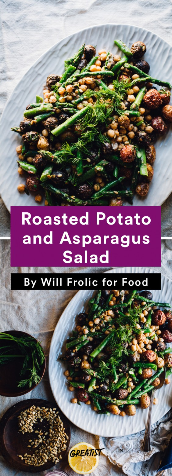 will frolic for food: Potato and Asparagus Salad