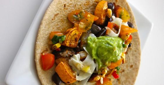 Roasted Summer Vegetable Tacos