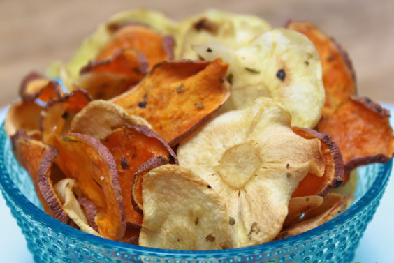 Sweet Potato and Parsnip Chips