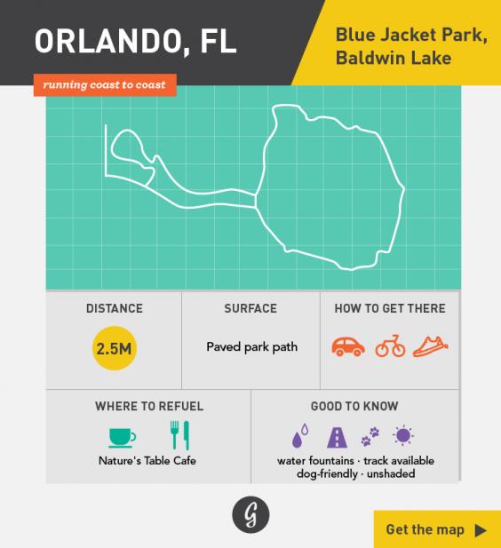 Greatist Running Routes Coast to Coast: Orlando, FL