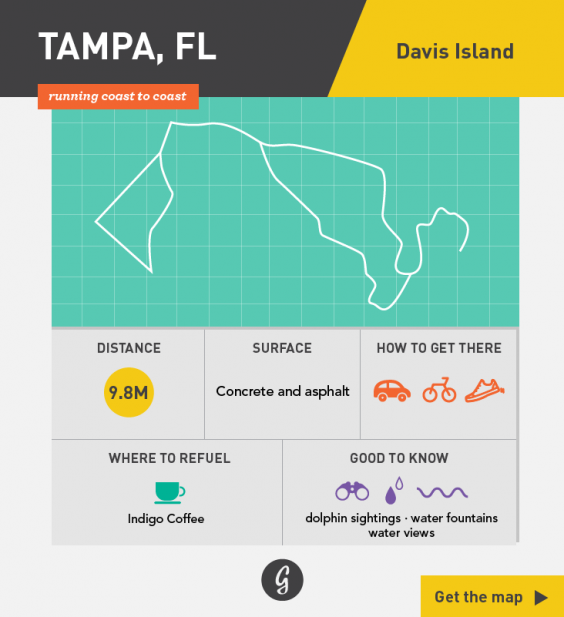 Greatist Running Routes Coast to Coast: Tampa, FL
