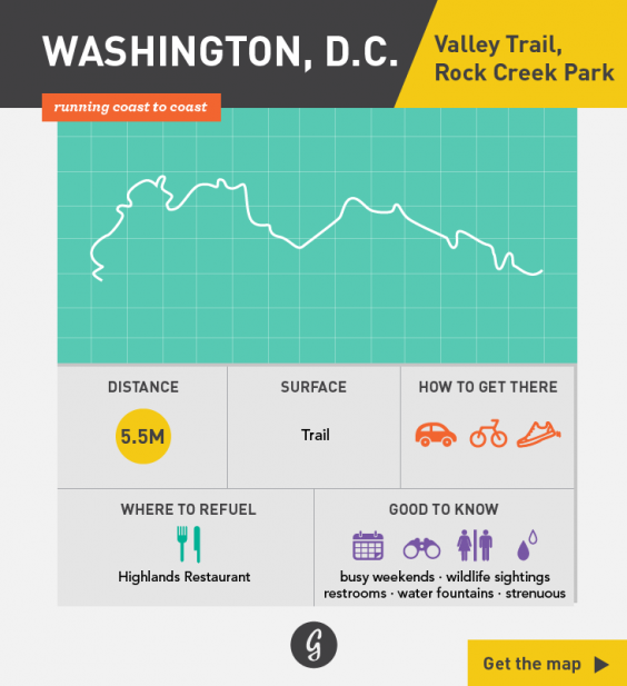 Greatist Running Routes Coast to Coast: Washington, DC