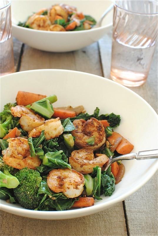 Seared Shrimp Vindaloo With Vegetables