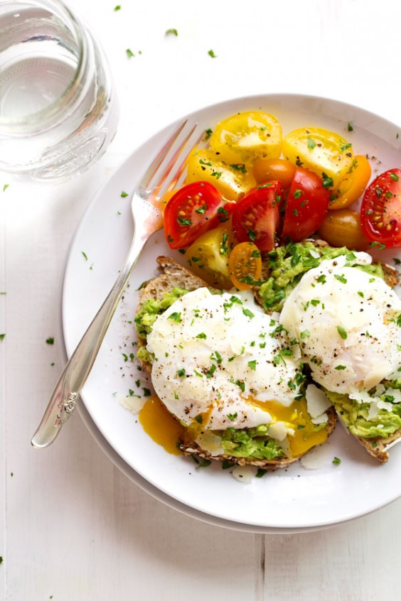 7. Simple Poached Egg Avocado Toast