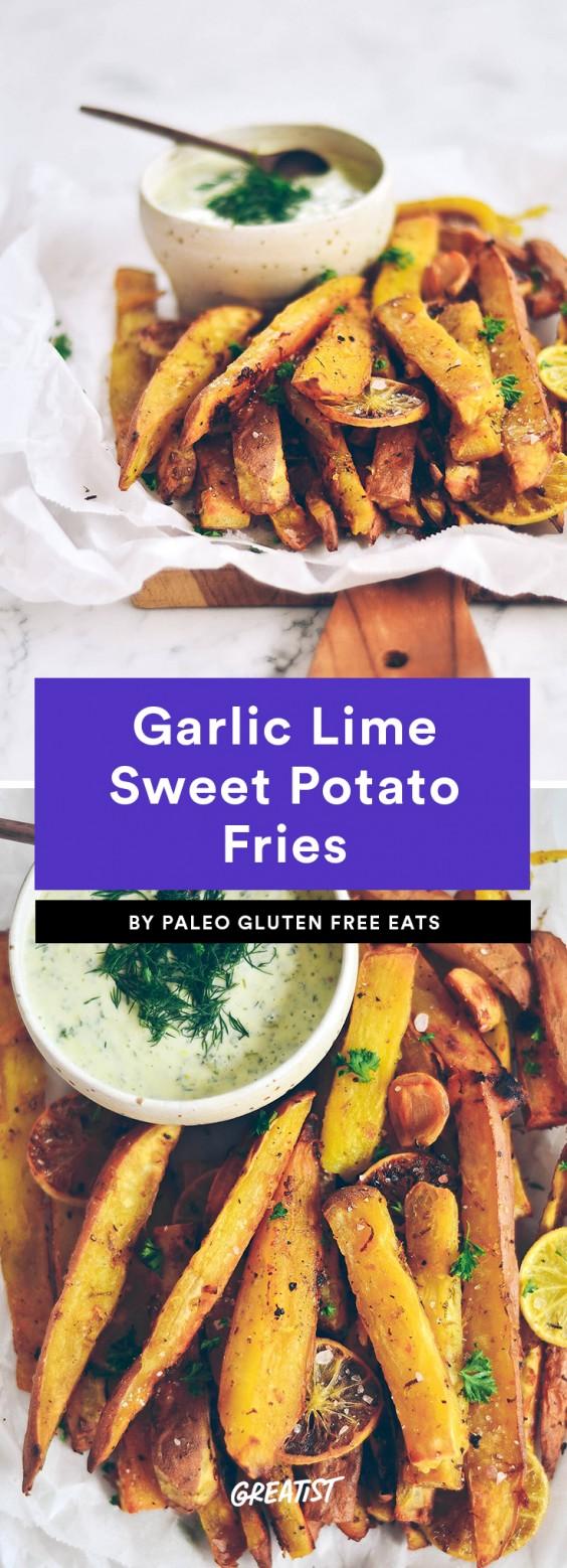Garlic Lime Sweet Potato Fries